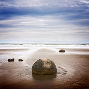 Seacape Metal Prints - Moeraki Boulders Otago New Zealand Metal Print by Colin and Linda McKie