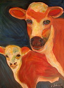 Jodie  Scheller - Momma cow and calf