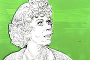 Momma On Green Print by Jason Tricktop Matthews