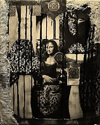 Pallet Knife Prints - Mona Lisa Print by Michael Kulick