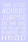 Baby Room Framed Prints - Monkey Jumping On The Bed Framed Print by Jaime Friedman