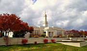 Angel Moroni Framed Prints - Monticello Utah LDS Temple Framed Print by Nathan Abbott