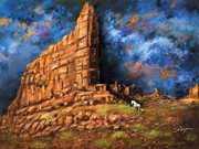 Landscapes Acrylic Prints - Monument Valley by Susi Galloway