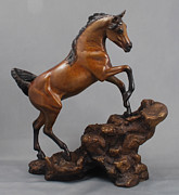 Bronze Sculptures - Moraffee by Lisa Sharpe