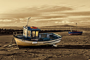John Collier Framed Prints - Morecambe Fishing Boats Framed Print by John Collier
