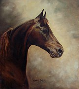 Equine Art Artwork Prints - Morgan Horse Print by Cynthia Riley