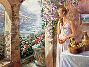 Verandah Paintings - Morning by Dmitri Kulikov