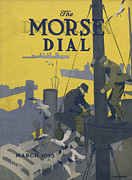 Seagull Metal Prints - Morse Dry Dock Dial Metal Print by Edward Hopper