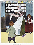 Porridge Photo Framed Prints - Mother Goose, 1916 Framed Print by Granger