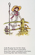 Bo Peep Prints - Mother Goose: Bo-peep Print by Granger