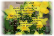 Gratitude Card Posters - Mothers Day Poem Poster by Debra     Vatalaro
