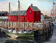 Rockport Paintings - Motif  Number One by Eileen Patten Oliver