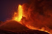 Science Photo Library - Mount Etna erupting at...