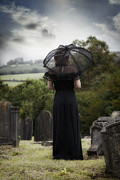 Tombstones Prints - Mourning Print by Joana Kruse