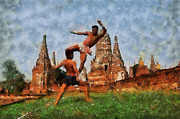 Boxing Digital Art - Muay Thai Arts of Fighting by Rames Ratyantarakor