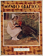 Featured Acrylic Prints - Mundo Grafico 1928 1920s Spain Cc Acrylic Print by The Advertising Archives
