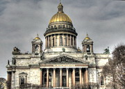 Element Pyrography Metal Prints - My City Peterburg Metal Print by Yury Bashkin