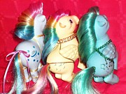 80s Prints - My Little ponies the guys Print by Donatella Muggianu