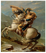 Jacques Framed Prints - Napoleon Crossing the Alps Framed Print by Jacques-Louis David