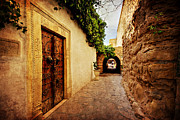 Souk Framed Prints - Narrow Street in Souk / Hammamet Framed Print by Barry O Carroll