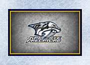 Puck Framed Prints - Nashville Predators Framed Print by Joe Hamilton