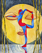 Yoga Pose Paintings - Nataraja Asana by Dee Browning