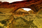 Southern Utah Photo Framed Prints - Natural Bridge Framed Print by Jeff  Swan