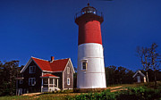 Mass Posters - Nauset Beach Lighthouse Poster by Skip Willits