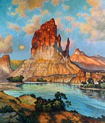Canyon Drawings Posters - Navajo Country Poster by John Hudson Hawke