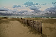 Beach Fence Digital Art Posters - New Buffalo Michigan Poster by Lynne Dohner
