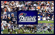 New England Patriots Posters - New England Patriots Poster by Joe Hamilton
