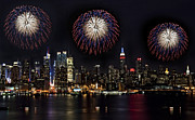 4th July Framed Prints - New York City Celebrates the 4th Framed Print by Susan Candelario