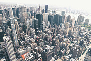New York City Skyline Photo Framed Prints - New York City from Above Framed Print by Vivienne Gucwa