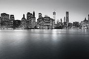 New York City Skyline Framed Prints - New York City Skyline Framed Print by Vivienne Gucwa