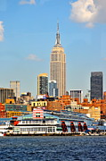 New York City Skyline Photos - New York City Skyline with Empire State by Kathy Flood