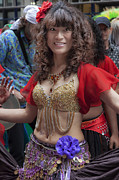 All - New York Dance Parade 2013 Belly Dancer by Robert Ullmann