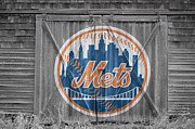 Baseball Glove Posters - New York Mets Poster by Joe Hamilton