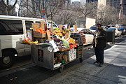 Owner Photo Framed Prints - New York Street Vendor Framed Print by Frank Romeo