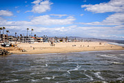Newport Beach Framed Prints - Newport Beach in Orange County California Framed Print by Paul Velgos