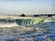 Niagra Falls Digital Art - Niagara Falls by Michelle Calkins