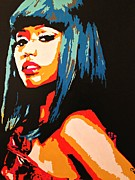 Rapper Paintings - Nicki Minaj by Elena Morales