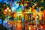 Leonid Afremov - Night Flowers