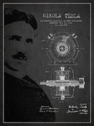 Nikola Tesla Patent From 1891 Print by Aged Pixel