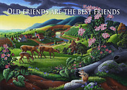Best Friend Originals - no20 Old friends are the best friends by Walt Curlee