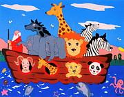 Noah's Ark Print by Joyce Gebauer