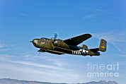 B-25 Bomber Prints - North American B-25g Mitchell Bomber Print by Scott Germain