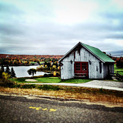 Barn Digital Art Metal Prints - Northern Landscape Metal Print by Natasha Marco