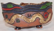 Decor Ceramics Originals - Norwester Tribal Bowl by Susan Perry