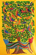 Gond Art Gallery Painting Originals - Npt 52 by Narmada Prasad Tekam