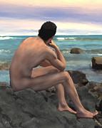 Kurt Van Wagner - Nude Male by the Sea